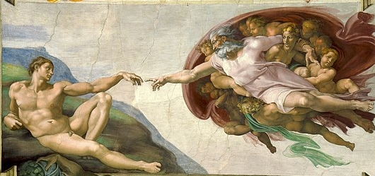 Creation of man, Michelangelo, Sistine Chapel