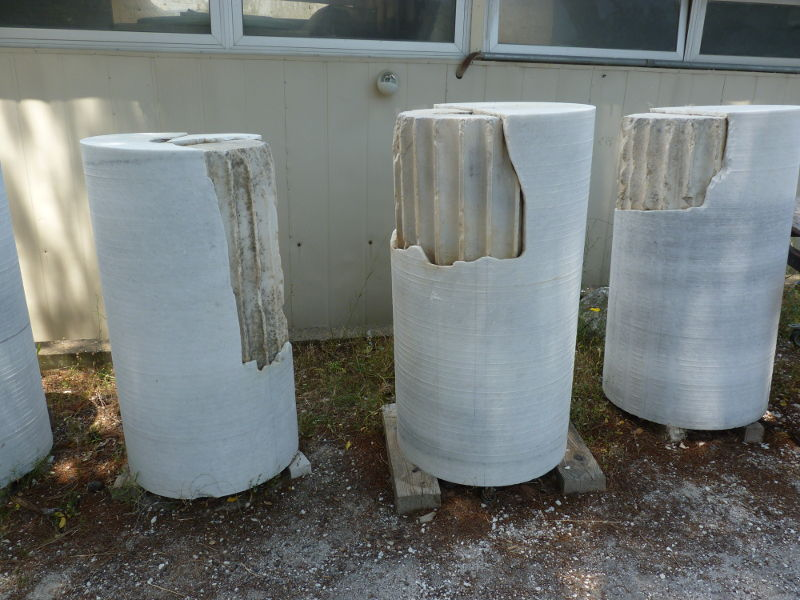More restored pieces of columns