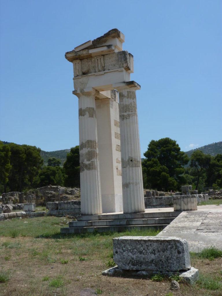Restored columns at Epidauros