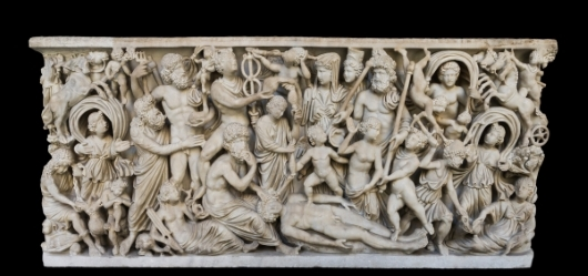The creation of man by Prometheus on a Roman sarcophagus