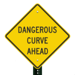 dangerous curve ahead sign