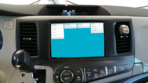 Mobile card board in vehicle